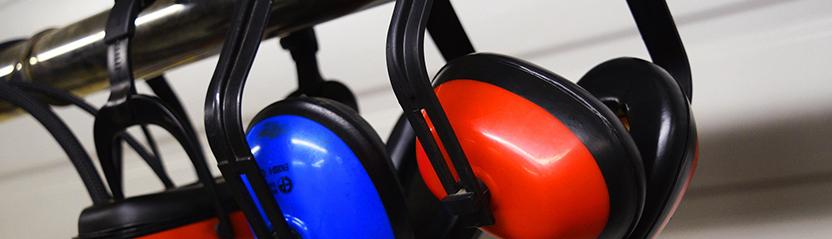 Haut niveaux de bruit utilisation oreille Protecteurs signal de sécurité